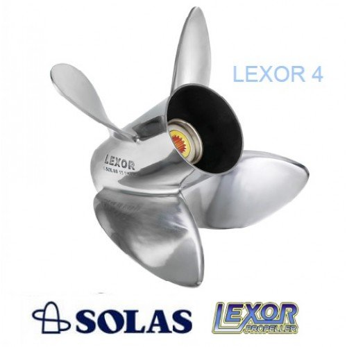 Solas Lexor 4 Blade Boat Propeller - Suzuki 150-300 HP