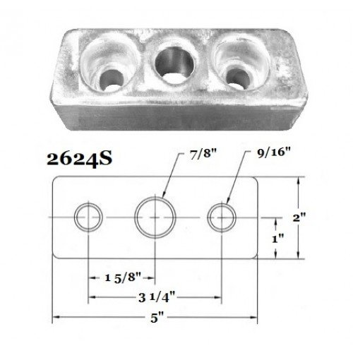 Fernstrum Heat Exchanger Anode 2624S